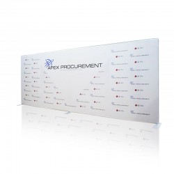 20ft Lunar Straight Tension Fabric Display