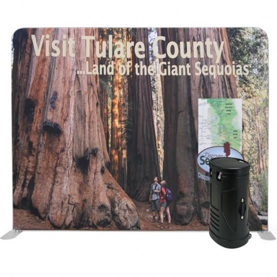 10ft Straight 1-Sided Tension Fabric Display