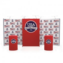 20ft Star Curved Tension Fabric Display Kit