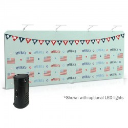 20ft Straight 1-Sided Tension Fabric Display