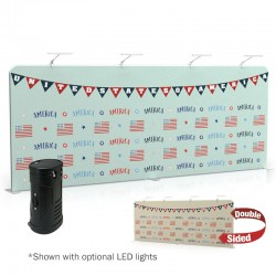 20ft Straight 2-Sided Tension Fabric Display