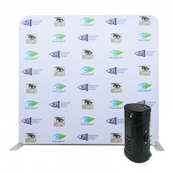 8ft Straight 1-Sided Tension Fabric Display