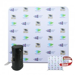 8ft Straight 2-Sided Tension Fabric Display