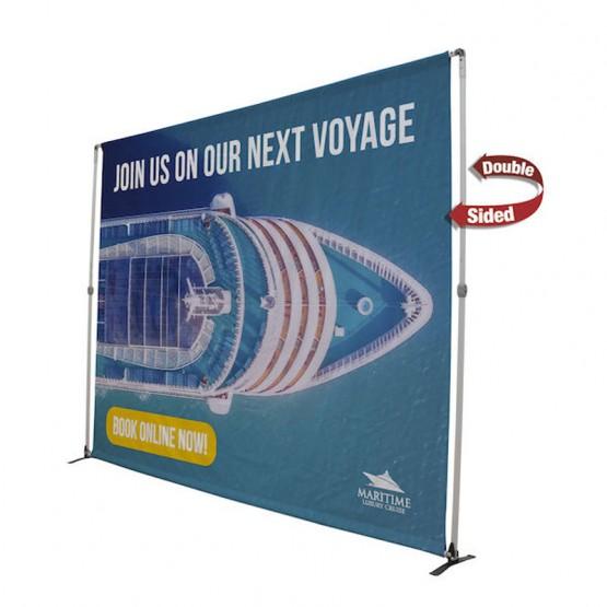 10ft Bravo Adjustable Banner Stand Kit