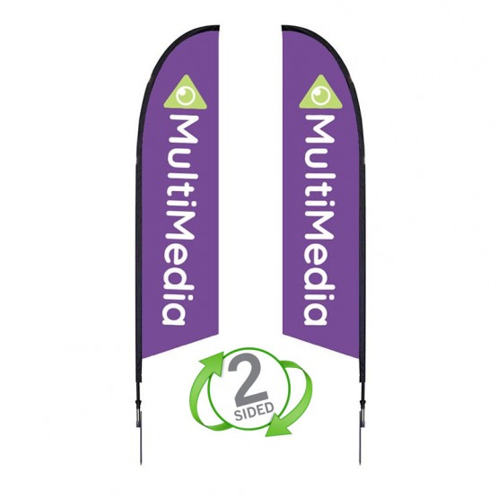 7 ft. XSmall Falcon Flag Double Sided Graphic Package