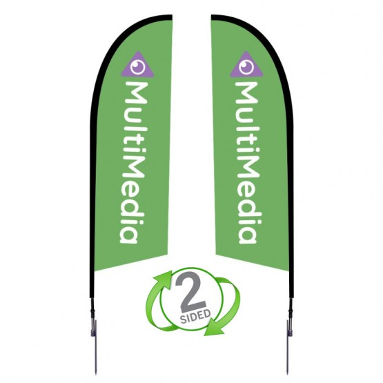 8.25 ft. Small Falcon Flag Double Sided Graphic Package