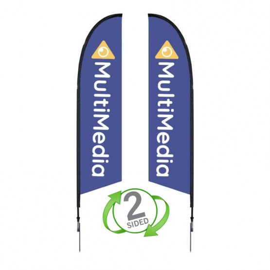 10.5 ft. Medium Falcon Flag Double Sided Graphic Package