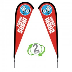 7.5 ft. Small Sunbird Flag Double Sided Graphic Package