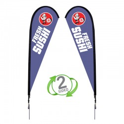 9 ft. Medium Sunbird Flag Double Sided Graphic Package