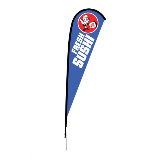 12 ft. Large Sunbird Flag Single Sided Graphic Package