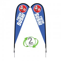 12 ft. Large Sunbird Flag Double Sided Graphic Package