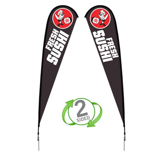 15 ft. XLarge Sunbird Flag Double Sided Graphic Package