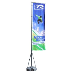13 ft. Mondo Flag Single Sided Graphic Package