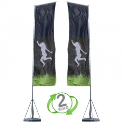 17 ft. Mondo Flag Double Sided Graphic Package