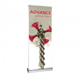 """Advance 31.5"""" Double Sided Retractable Banner Stand"""
