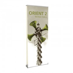"""Orient 31.5"""" Double Sided Retractable Banner Stand"""