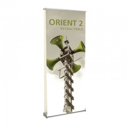 """Orient 35.5"""" Double Sided Retractable Banner Stand"""