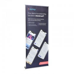 """Orient 31.5"""" Retractable Banner Stand"""