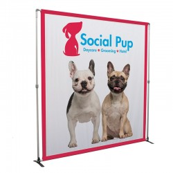 8ft Bravo Adjustable Banner Stand
