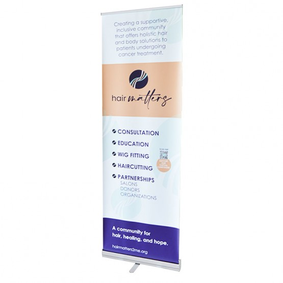 Econoroll 24in Retracting Banner Stand