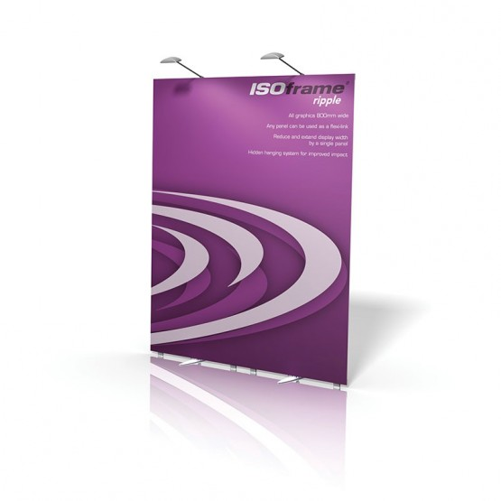 ISOframe Ripple 2-Panel Banner Stand Kit