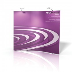 ISOframe Ripple 3-Panel Banner Stand