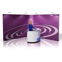 ISOframe Ripple 7-Panel Banner Stand Kit