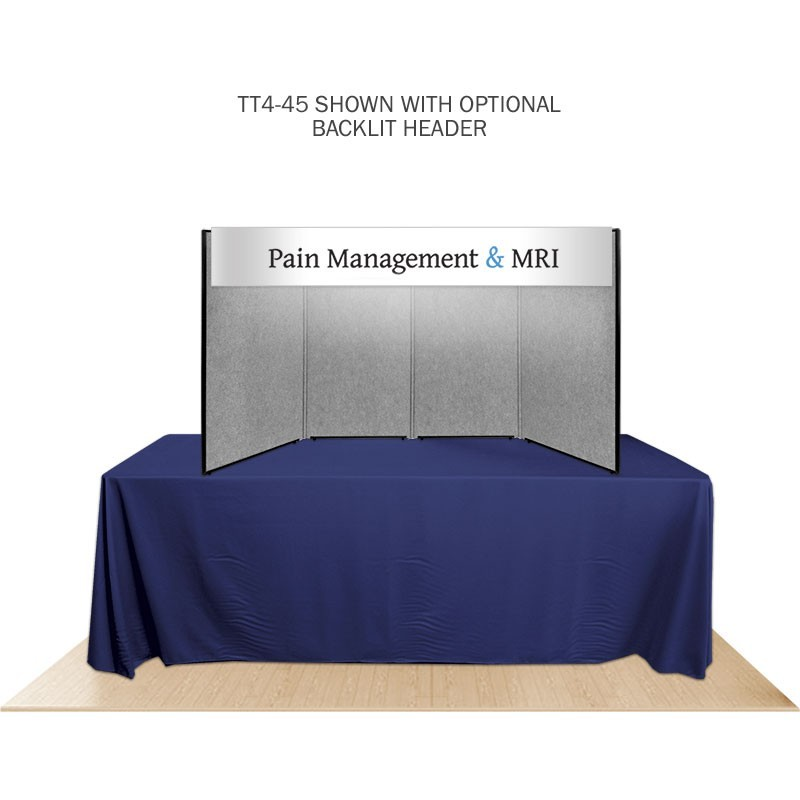 4 Panel Promoter45 Table Top Display