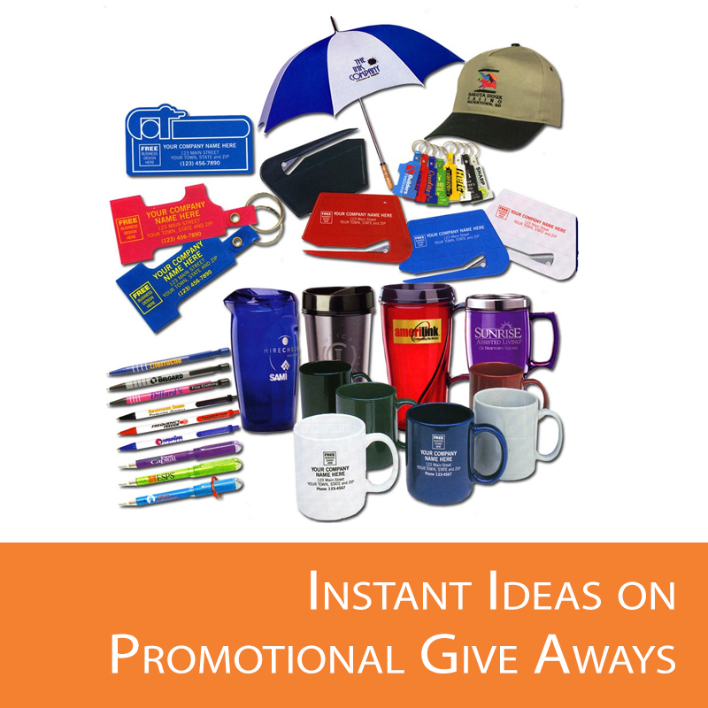 Promotional giveaways tips and advice.