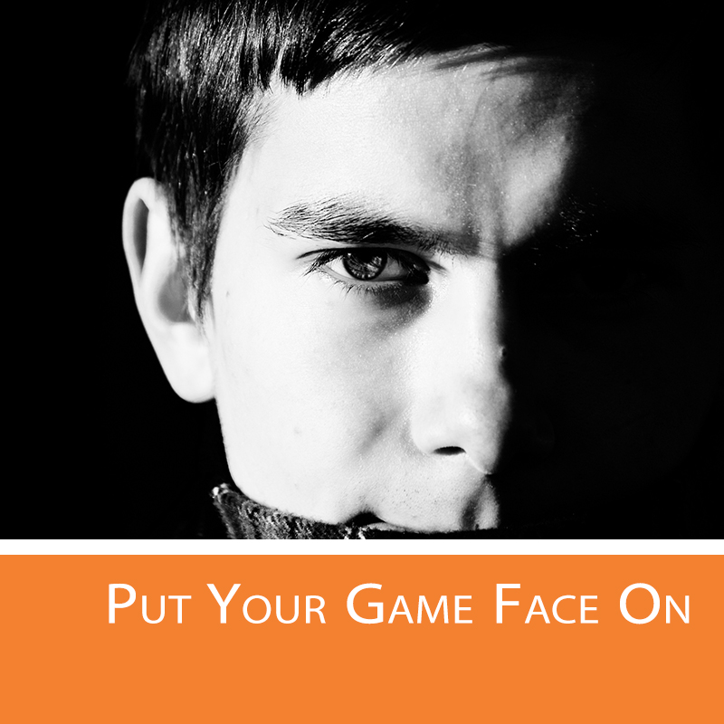 Put your positive game face on at a trade show.