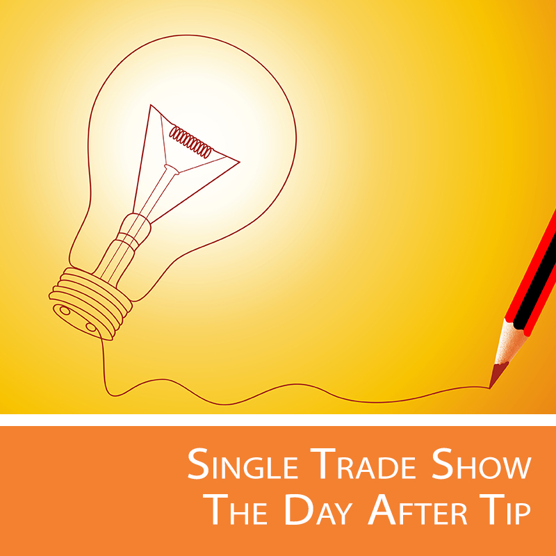 One tip to help spark ideas for the next trade show