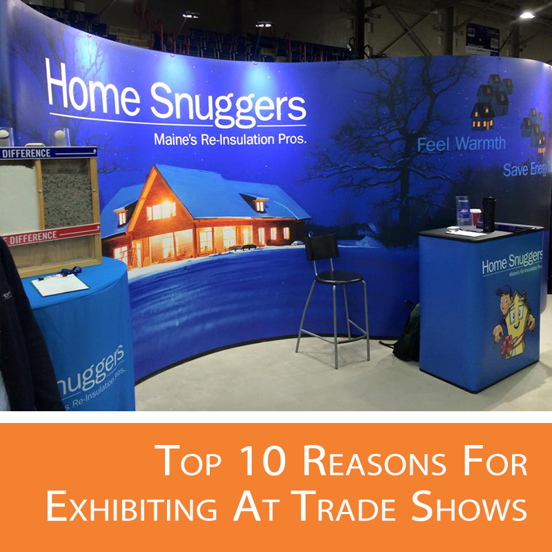 10 reasons to attend trade show and gain brand awareness.