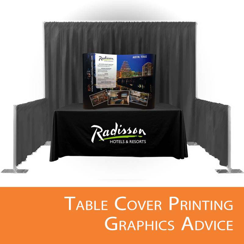 Custom logo table covers advice.