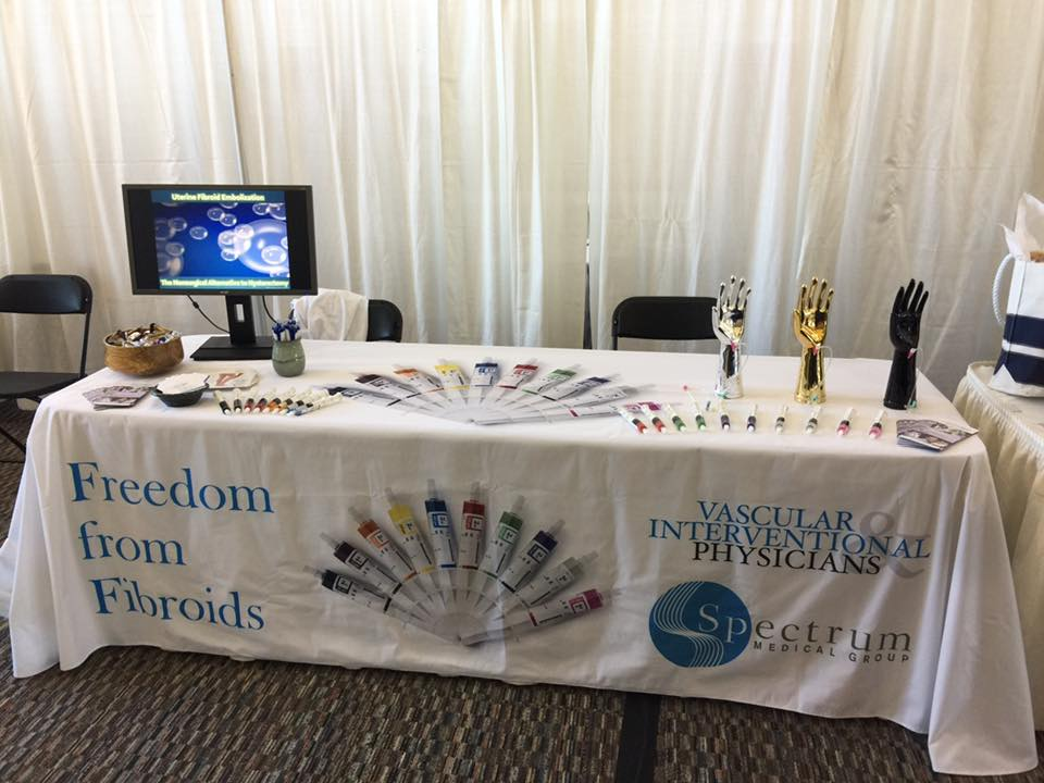 8ft printed logo table cover is perfect for not only trade show use but any other marketing event as well.