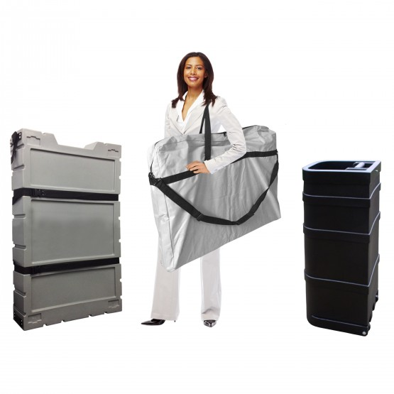 Portable Exhibition Display Cases : Shipping and carry cases affordable exhibit display