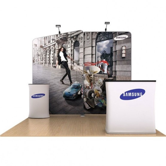 Waveline Media Tension Fabric Displays