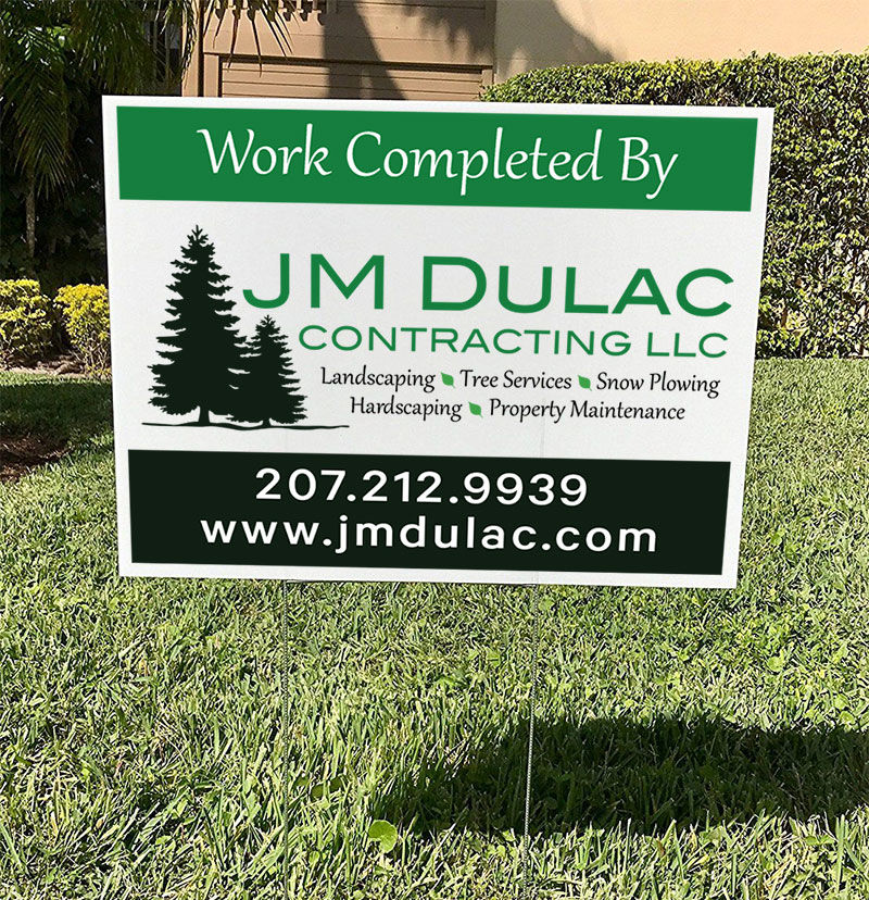 Ground stake yard signs - job site signs - 18x24 corrugated plastic