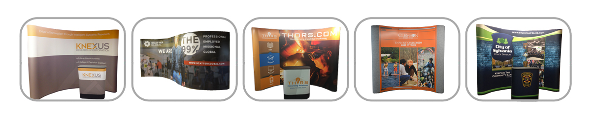 Full Height, Full Size Pop-Up Displays