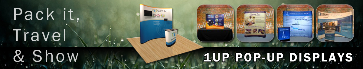 1UP Pop-Up Displays by Affordable Exhibit Displays