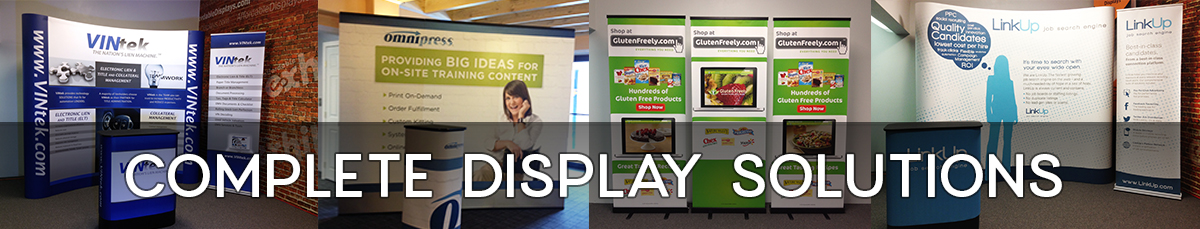Complete trade show display solutions by Affordable Exhibit Displays