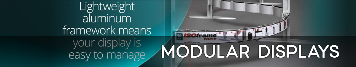 Revoluationary modular trade show displays by Affordable Exhibit Displays