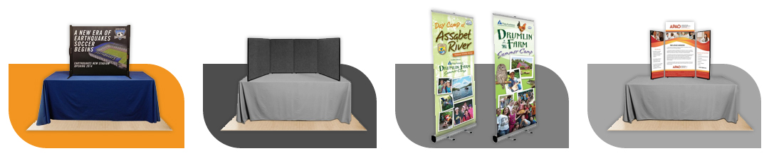 Custom & Large Quantity Trade Show Exhibit Displays from Affordable Displays