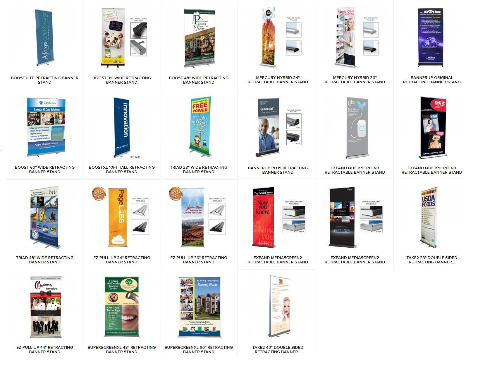 Retractable Banner Stands, roll up banner, pull up banner