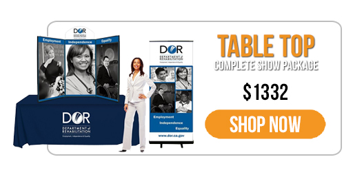 Trade Show Displays - Everyday Savings - Specials - 3-panel Table Top Display Package