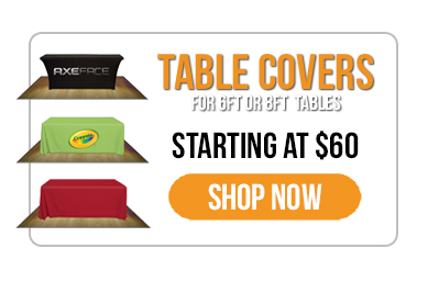 Trade Show Displays - Everyday Savings - Imprinted Table Throw Covers - Throw Covers - Stretch Fabric Cover