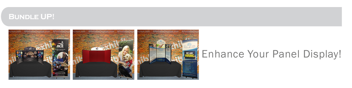 Promoter & AcademyPro panel displays - Add banner stand or custom printed table cover!