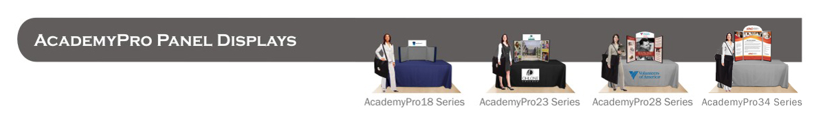 AcademyPro Panel Table Top Displays