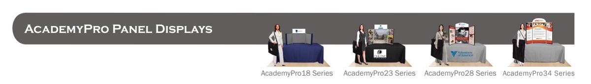 AcademyPro Panel Table Top Displays