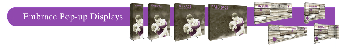 Embrace Push-Fit Tension Fabric Displays