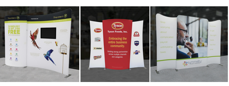 Formulate® tension fabric display collection, the Designer Series